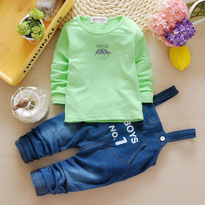 Baby Boy Clothes New Baby Clothing Sets Long Sleeve T-shirt+Denim for Kids Clothes
