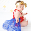 Baby Girl Clothes Sequin Polka Dot Romper Lace Splice Belt Tutu Jumpsuit Skirt Playsuit