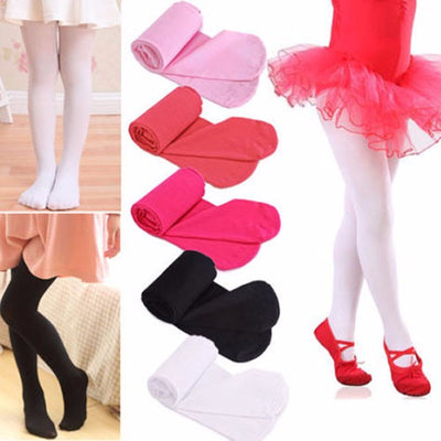 Baby Kids Girls Tights Soft Velvet Ballet Dance wear Tights Pantyhose 4-9Y
