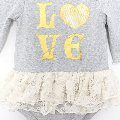 Baby Clothes i love Christmas Wear Girls Dress Rompers Romper Girl Embroidered Jumpsuit Sunsuits  Xmas Clothing