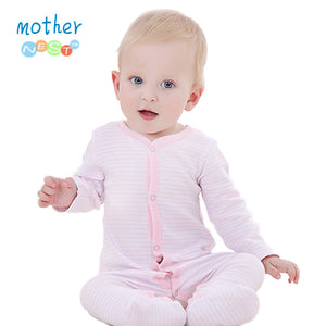 Baby Romper Long Sleeve Pink Stripped Cotton Baby Jumpsuit born Baby Girl Clothes Infant Clothing Baby