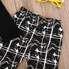 born baby Boys clothes long sleeve Letter t-shirt+Geometric pants kids 2pcs suit baby boy clothing sets infant clothing