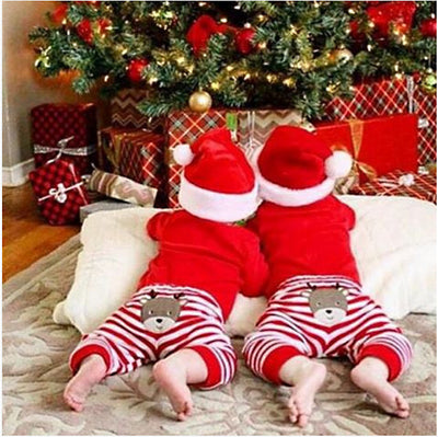 2Pcs/Set ! Christmas Newborn Baby Boy Girl Clothes Long Sleeve Cotton Romper + Deer Pants Outfit Xmas baby boy girl clothing set