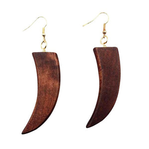 African style wood earrings