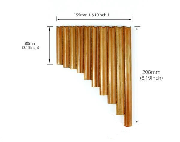 Bamboo 10 pipes pan flute