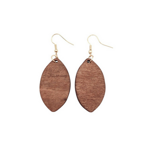 Leaf African pendant earrings