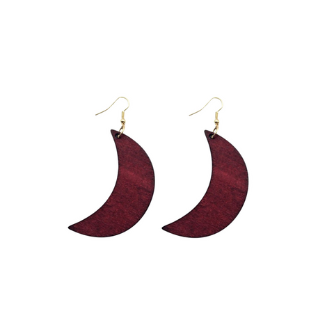 Moon pendants African earrings
