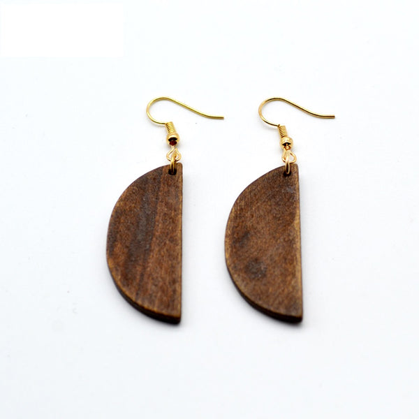 Geo half circle drop earrings