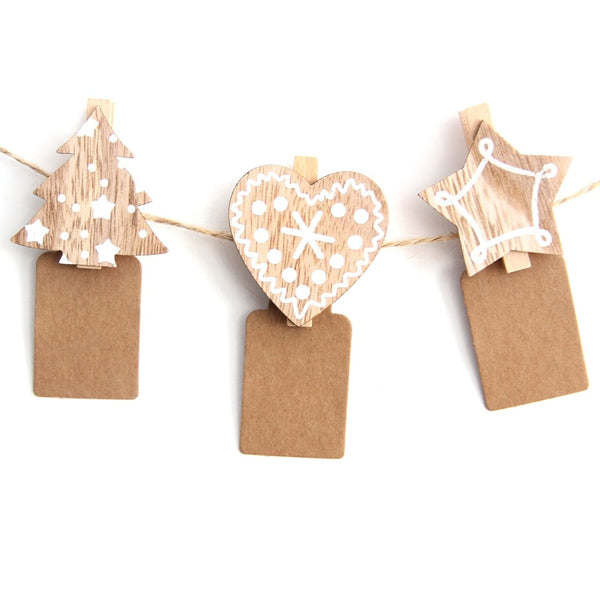 20PCS  Wooden Clips