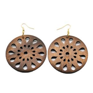 Mandala African earrings