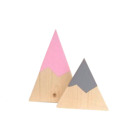 wooden kids room decoration mountain set