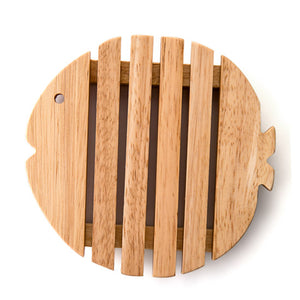 Fish Shaped wooden table coaster