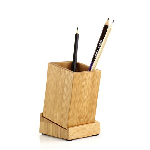 Bamboo pen holder