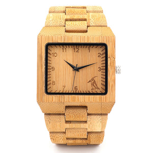 Square Bamboo Watch