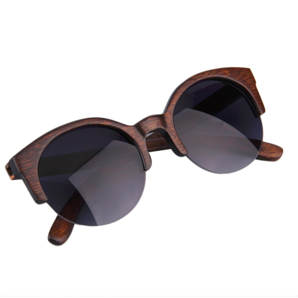 Half Round Wood Sunglasses