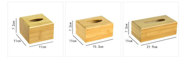 Bamboo tissue storage box