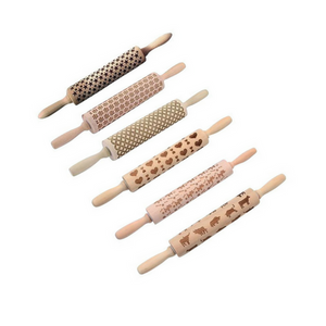 Wooden Patterned Rolling Pin