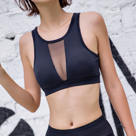 Top Wire Free Push Up Running Bra