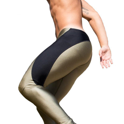 Nylon Sexy Legging Men Workout
