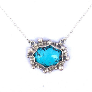 Encrusted Turquoise Necklace