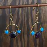 Triple Stone Earrings