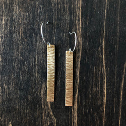 Bronze Bar Earrings - Jester Swink