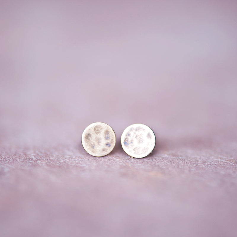 Bronze Circle Stud Earrings from Jester Swink - Jester Swink