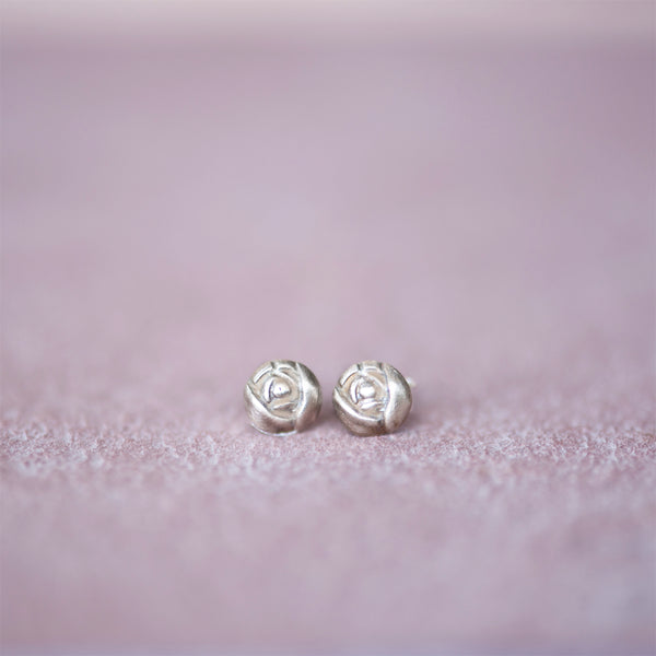 Bronze Rose Bud Stud Earrings from Jester Swink - Jester Swink