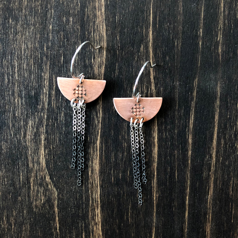 Fringe Copper Earrings - Jester Swink