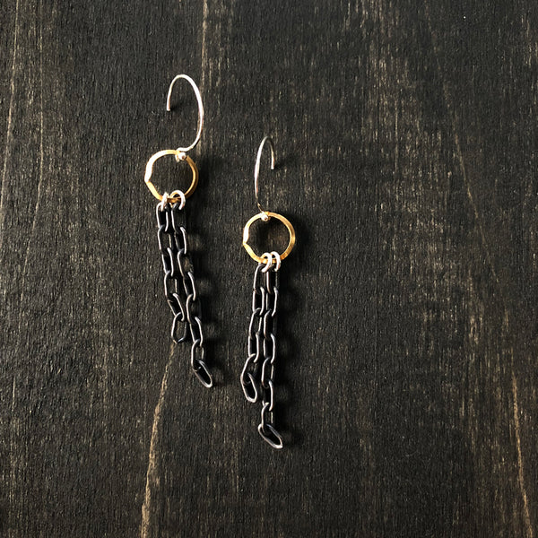 Dangle Gold and Silver Earrings - Jester Swink