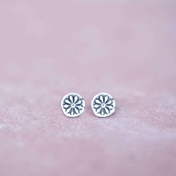Australian Tea Tree Seed Silver Stud Earrings - Jester Swink