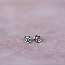 Sterling Silver Mini Rose Stud Earrings - Jester Swink