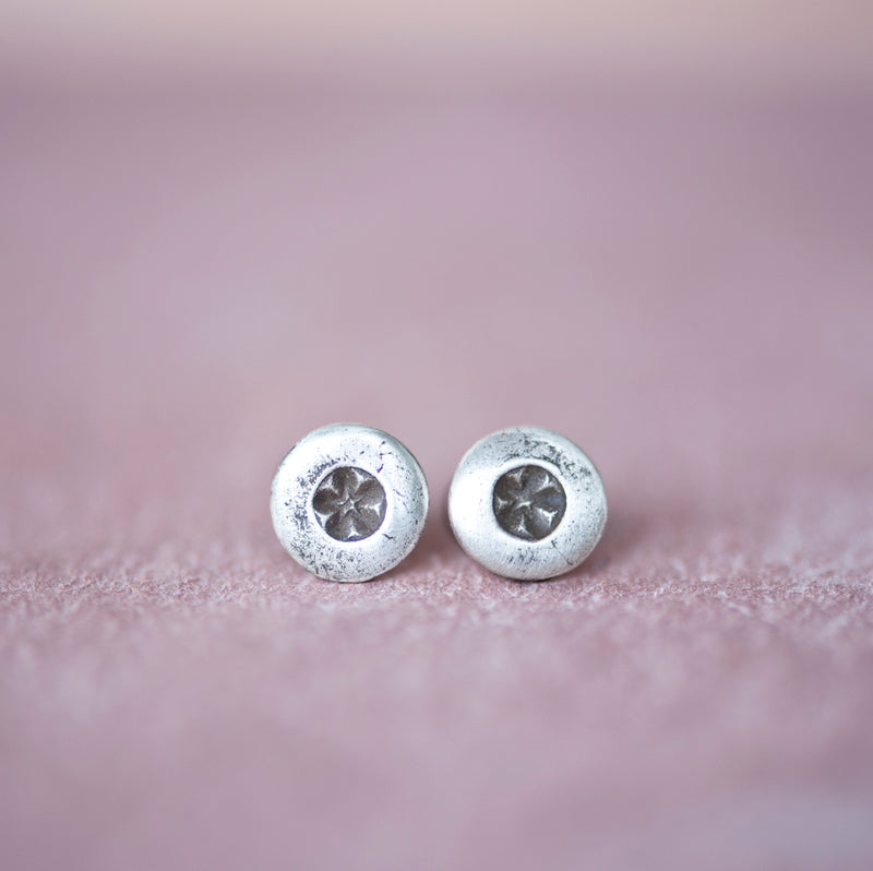Sterling Star Stud Earrings, 5mm Stud Earrings - Jester Swink