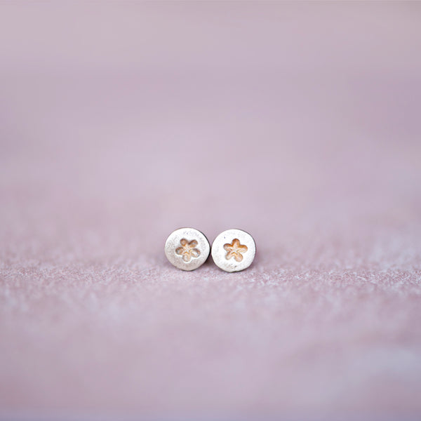 Circle Bronze Star Stud Earrings from Jester Swink - Jester Swink