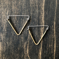 Triangle Hoop Earrings - Jester Swink