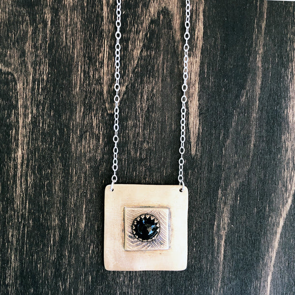 Abstract Onyx Pendant Necklace - Jester Swink