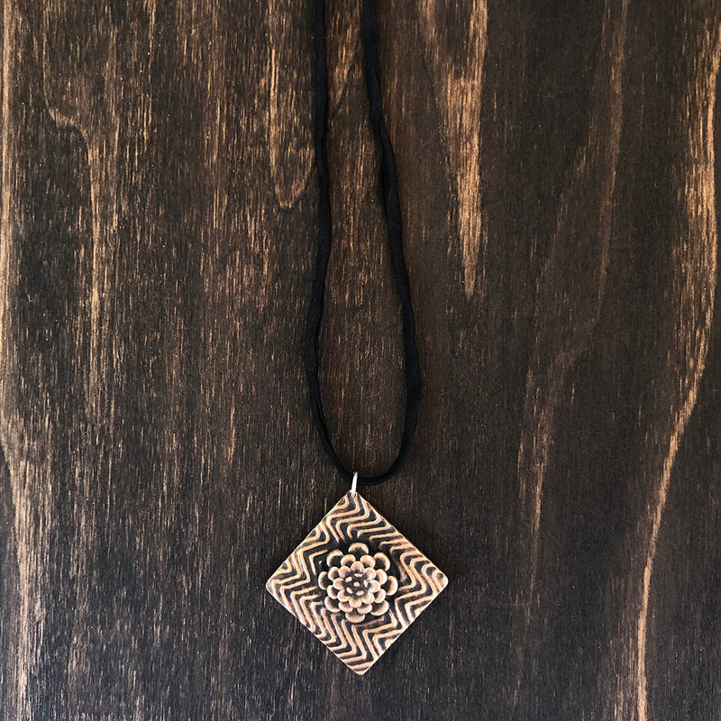 Zig Zag and Floral Necklace - Jester Swink