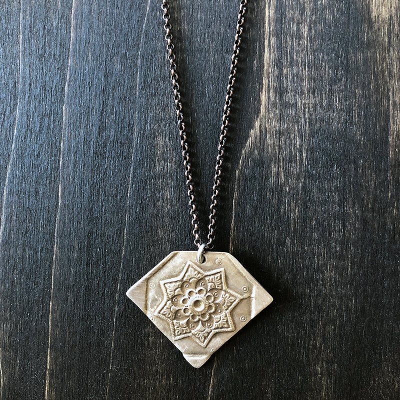 Bronze Moroccan Design Pendant Necklace - Jester Swink