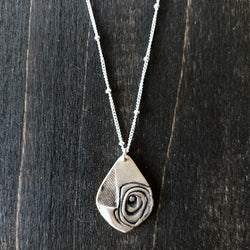 Jester Swink - A Hint of Rose - Bronze and Sterling Necklace