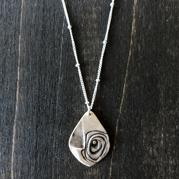 A Hint of Rose - Bronze and Sterling Necklace - Jester Swink