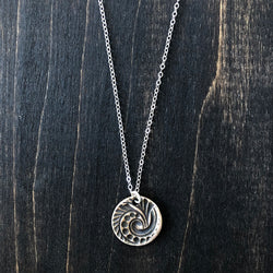 Swirl Sea Shell Bronze Necklace - Jester Swink
