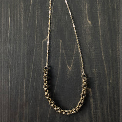 Bold Brass and Gold-Filled Chain for Layering Necklace - Jester Swink