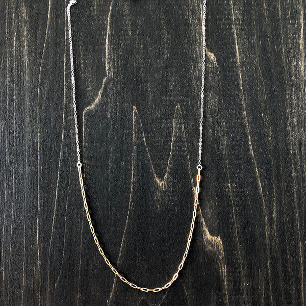 Layering Gold-Filled and Sterling Chain Necklace - Jester Swink