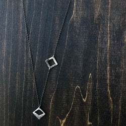 Delicate Assymy Necklace with Deco Textures - Jester Swink