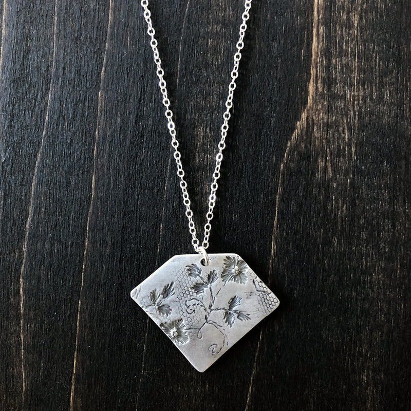 Sterling Lace Diamond Necklace - Jester Swink