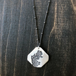 Floral Branch Sterling Pendant - Jester Swink