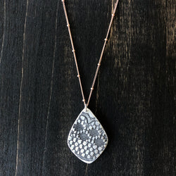 Jester Swink - Sterling Drop Lace Pendant