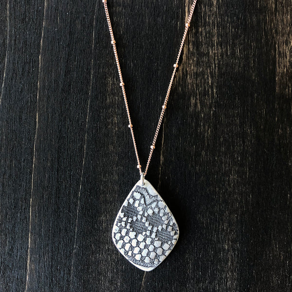 Sterling Drop Lace Pendant - Jester Swink