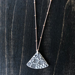 Fanned Sterling Lace Pendant - Jester Swink