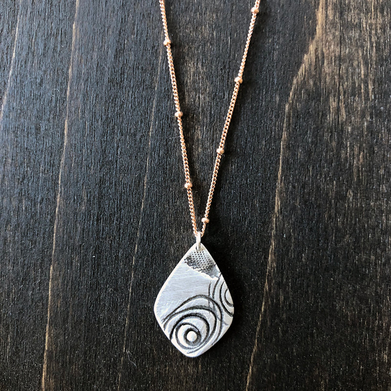 A Touch of Rose - Sterling Necklace - Jester Swink